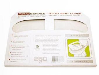 Накладки на сиденья унитаза PRO service 1/2 сложение 250 шт.