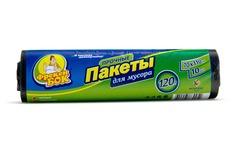 Пакет для мусора Фрекен БОК полиэтилен 70*110 черный LD (ЛД) 120 л / 10 шт. (30 шт. / ящ.)