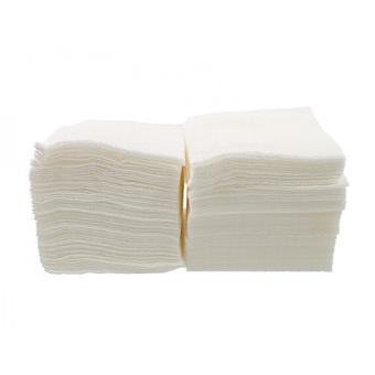 Салфетка столовая (барная) 23*23 1-но слойная белая 500 шт. (10шт/ящ)