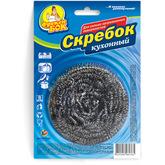 Скребок стальной кухонный Фрекен БОК из нержавеющей стали, 6 см, 1 шт. (288шт/ящ)