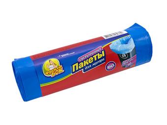 Пакет для мусора Фрекен БОК полиэтилен 90*120 синий LD (ЛД) 160 л / 10 шт. (20 шт. / ящ.)