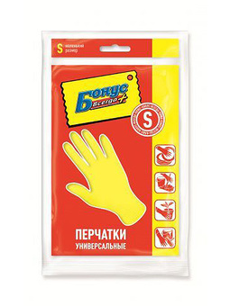 Перчатки БОНУС резиновые универсальные S (144шт/ящ)