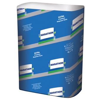 Полотенце бумажное целлюлозное Marathon Extra ZZ 2-х слойное 200 лист. (12шт/ящ)