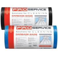 Пакет для мусора PRO service полиэтилен 70*110 черный LD (ЛД) 120 л / 10 шт. (25 шт. / ящ.)