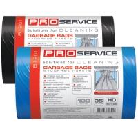 Пакет для мусора PRO service полиэтилен 50*55 черный HD (ХД) 35 л / 100 шт. (20 шт. / ящ.)
