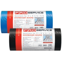 Пакет для мусора PRO service полиэтилен 60*80 синий HD (ХД) 60 л / 20 шт. (50 шт. / ящ.)