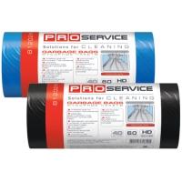 Пакет для мусора PRO service полиэтилен 60*80 черный HD (ХД) 60 л / 40 шт. (25 шт. / ящ.)