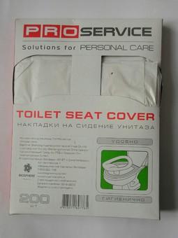 Накладки на сиденья унитаза PRO service 1/4 сложение 200 шт.