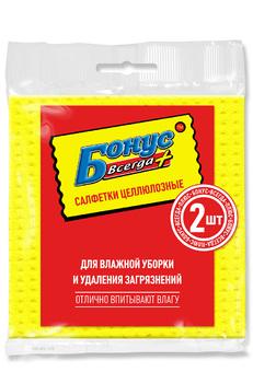 Салфетки БОНУС целлюлоза 15,5*15,5 см 2 шт. (72шт/ящ)