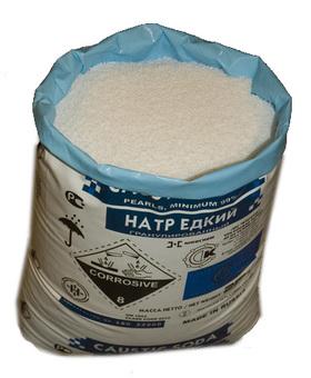 Натр едкий (сода каустическая, натрий гидроксид, NaOH) технический гранулированный ОАО Каустик (Россия) мешок (25кг)