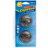 Скребок стальной кухонный Фрекен БОК из нержавеющей стали, 6 см, 2 шт. (96шт/ящ)