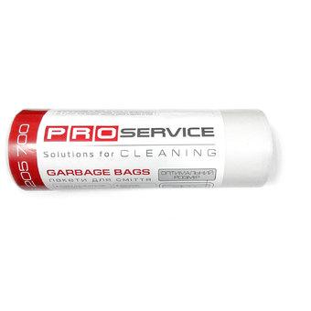 Пакет для мусора PRO service полиэтилен увеличенной плотности 70*110 белый LD (ЛД) 120 л / 10 шт. (15 шт. / ящ.)